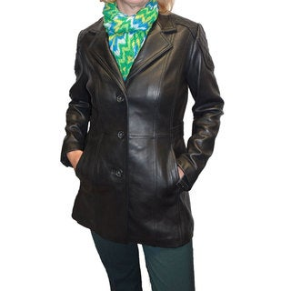 Jones New York Women's 'Walker' Leather Coat