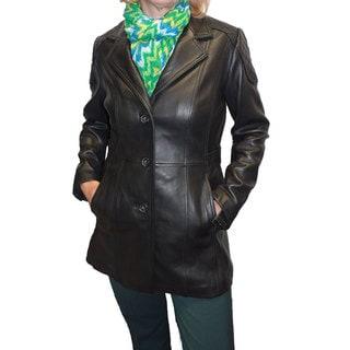 Jones New York Women's 'Walker' Leather Coat