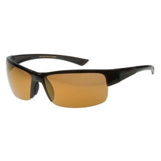 Serengeti Men's 'Corrente' Cognac Semi-wrap Sunglasses