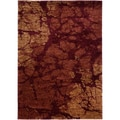Rock Red Abstract Area Rug (5'3 x 7'5)