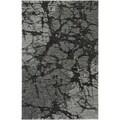 LNR Home Rock Dark Grey Abstract Area Rug (5'3 x 7'5)