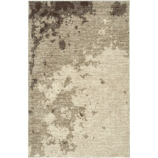 LNR Home Rock Beige Abstract Area Rug (5'3 x 7'5)