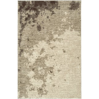 Beige Abstract Rectangle Area Rug (7'10 x 10'6)