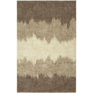 LNR Home Rock Brown Abstract Area Rug (7'10' x 10' 6')