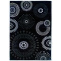 Charcoal Transitional Medallion Area Rug (5'3 x 7'5)
