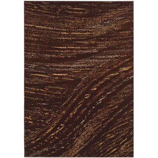 LNR Home Adana Light Brown Abstract Rug (5'3 x 7'5)