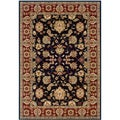 Black and Red Oriental Floral Area Rug (7'9 x 9'9)