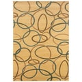 Light Brown Abstract Area Rug (7'9 x 9'9)
