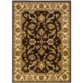 Brown and Cream Oriental Accent Rug (2'2 x 3'3)