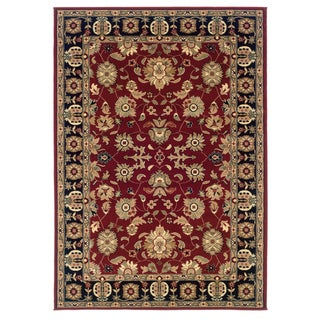 Traditional Red/Black Accent Rug (2'2 x 3'3)
