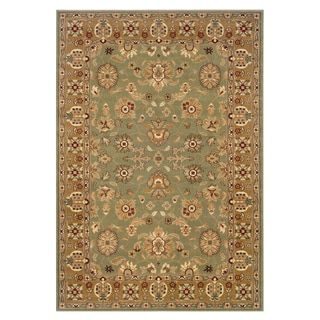 LNR Home Adana Traditional Green/ Gold Accent Rug (1'10 x 2'10)