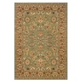 Traditional Green/Gold Accent Rug (1'10 x 2'10)