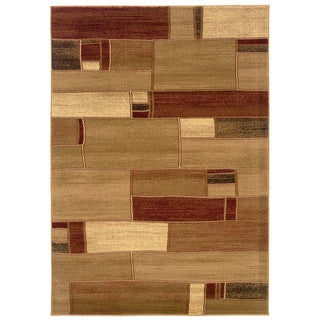 Berber/D ark Abstract Yellow Accent Rug (2'2 x 3'3)