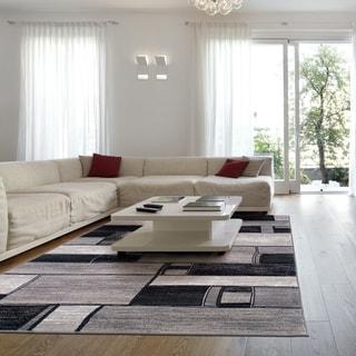 LNR Home Adana Charcoal Grey Abstract Area Rug (1'10 x 3'1)