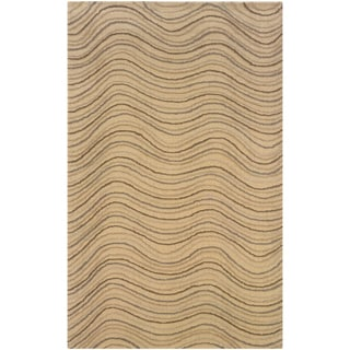 Natural Rectangle Abstract Rug (8' x 10')
