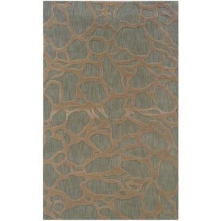 Hand-loomed Abstract Grey Rug (8' x 10')