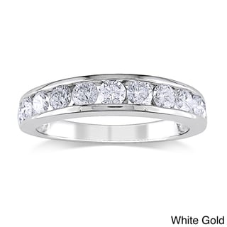 Miadora 14k Gold 1ct TDW Certified Diamond Wedding Band (G-H, I1-I2)