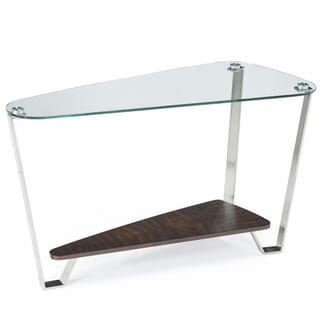 Pollock Shaped Glass-Top Sofa Table