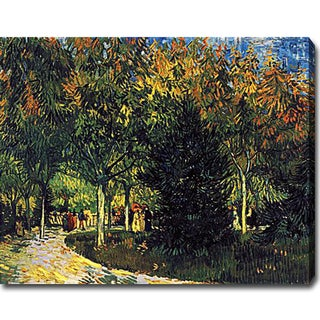 Vincent Van Gogh 'A Lane in the Public Garden at Arles' Oil Canvas Art