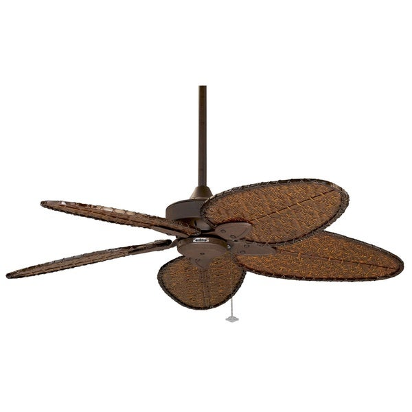 Fanimation Windpointe 52-inch Rust with Bamboo Blades Ceiling Fan ...