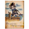 Oliver Gal 'Captain Kitty' Canvas Art