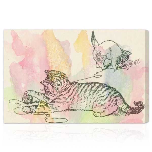Oliver Gal 'Kittens Love to Play' Canvas Art