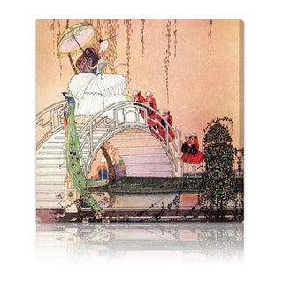 Oliver Gal 'Minette' Fantasy and Sci-Fi Wall Art Canvas Print - Brown, Green