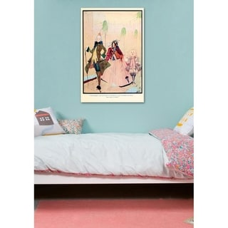 Oliver Gal 'Puss in Boots' Pink Fantasy Wall Art Canvas Print