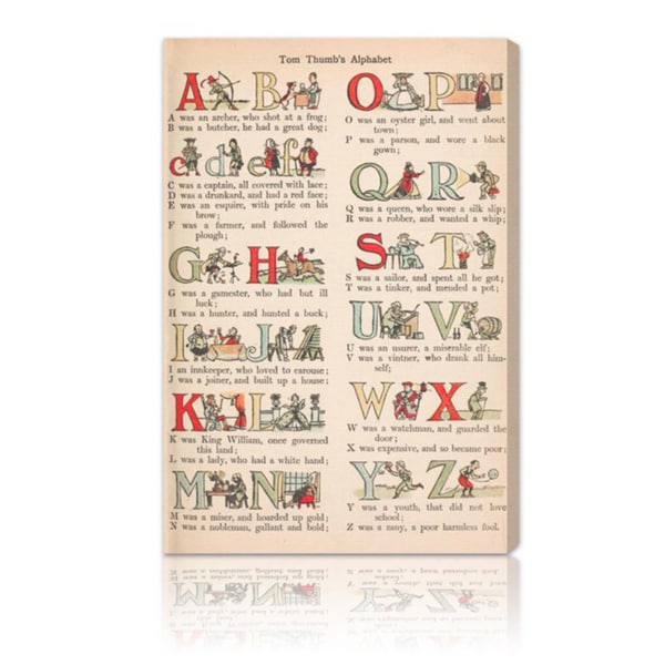 Oliver Gal 'Tom Thumb's Alphabet' Canvas Art