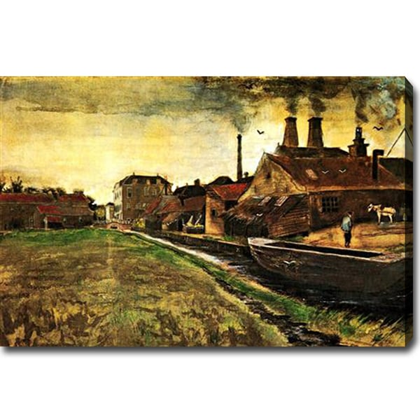 Vincent Van Gogh 'Iron Mill in The Hague' Oil Canvas Art