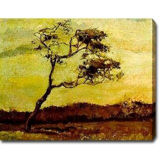 Vincent Van Gogh 'A Wind-Beaten Tree' Oil Canvas Art