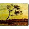 Vincent Van Gogh 'A Wind-Beaten Tree' Oil Canvas Art