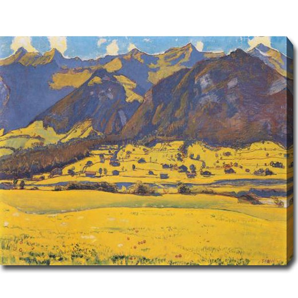 Ferdinand Hodler 'Ansicht des Fromberghorns von Reichenbach aus' Oil on Canvas Art