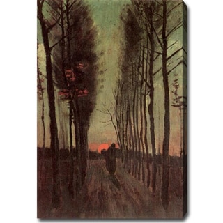 Vincent Van Gogh 'Avenue of Poplars at Sunset' Oil on Canvas Art