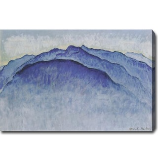 Ferdinand Hodler 'Berggipfel am Morgen' Oil Canvas Art