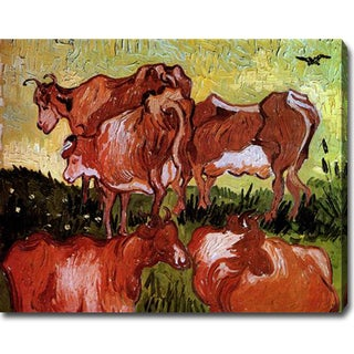 Vincent Van Gogh 'Cows after Jordaens' Oil on Canvas Art
