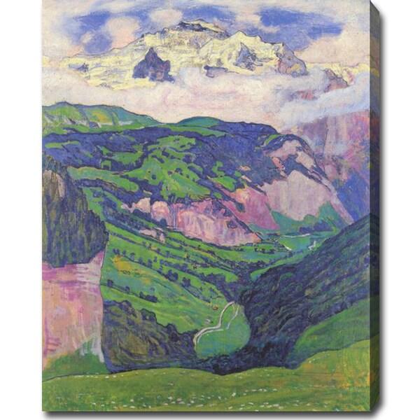 Ferdinand Hodler 'Die Jungfrau von der Isenfluh aus' Oil on Canvas Art