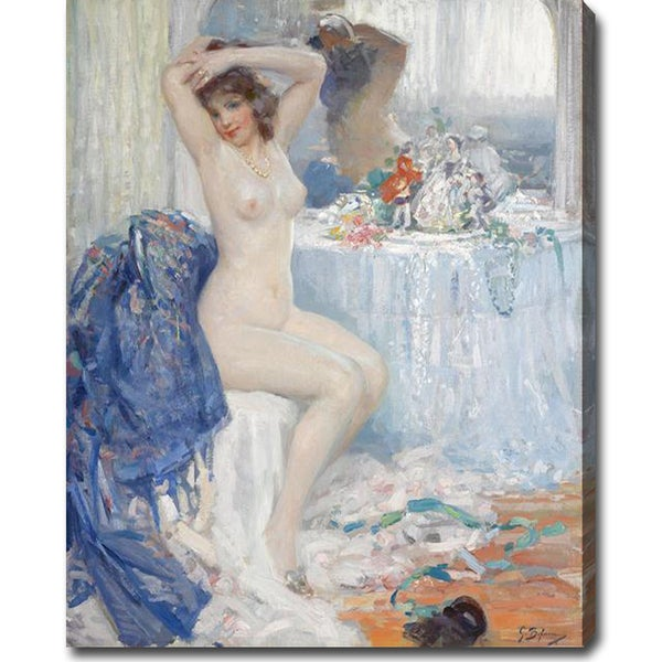 Gennaro Befanio 'At Her Toilette' Oil on Canvas Art