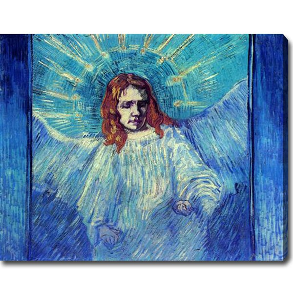 Vincent van Gogh 'Half Figure of an Angel after Rembrandt' Oil on Canvas Art