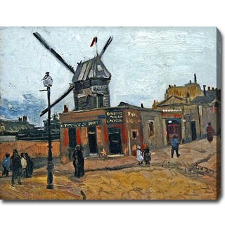 Vincent van Gogh 'Le Moulin de la Galette' Oil on Canvas Art