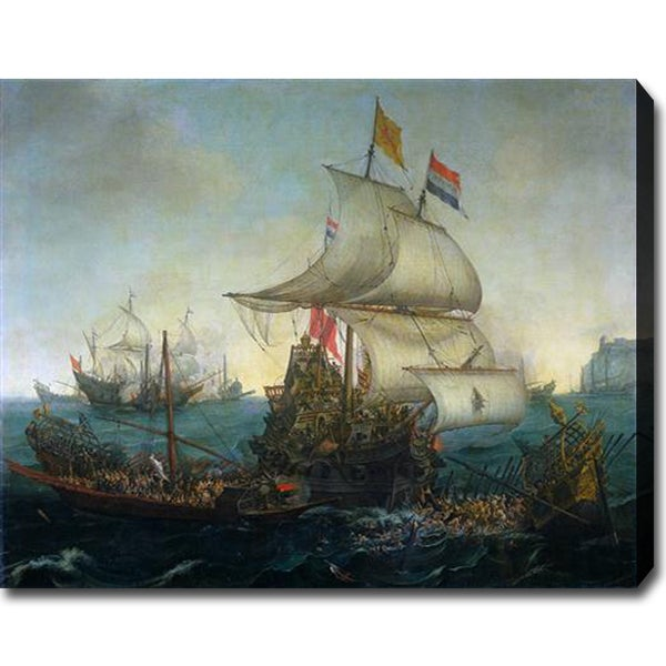Vroom 'Dutch Ships Ramming Spanish Galleys off the English Coast' Art
