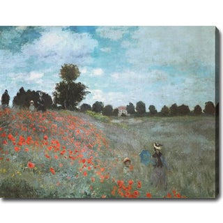 Claude Monet 'Poppies, Near Argenteuil' Oil on Canvas Art