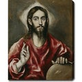 El Greco 'Christ blessing (The Saviour of the World)' Oil on Canvas Art
