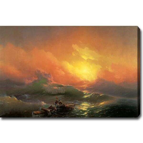 Ivan Aivazovsky 'The Ninth Wave' Oil on Canvas Art