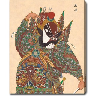 'Peking Opera Face' Oil on Canvas Art