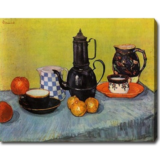 Vincent van Gogh 'Still Life - Blue Enamel Coffeepot, Earthenware and Fruit' Oil on Canvas Art
