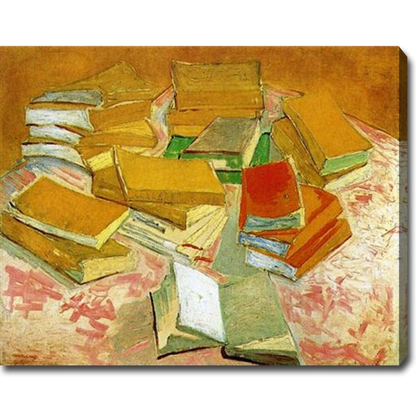 Vincent van Gogh 'Still Life - French Novels' Oil on Canvas Art
