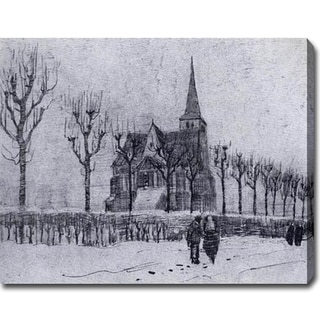 Vincent van Gogh 'The Church in Nuenen in Winter' Oil on Canvas Art