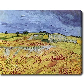 Vincent van Gogh 'The Fields with Dark Clouds' Oil on Canvas Art