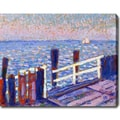 Theo Van Rysselberghe 'The Jetty' Oil on Canvas Art